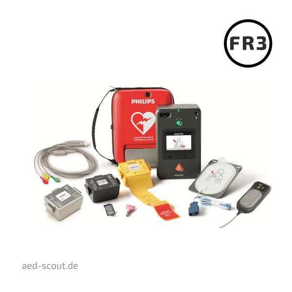 Philips AED FR3 Komplett Set